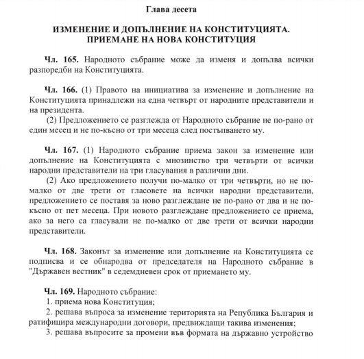 Проектът на ГЕРБ за нова Конституция премахва Великото Народно ...