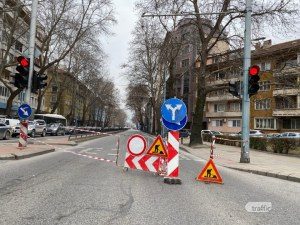 ВиК авария пред ПУ отново блокира движението в центъра на Пловдив