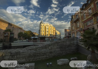 Красивият Пловдив на залез слънце